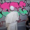 Pope Francis adds dope tag to West Bank separation barrier