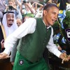 Obama taps traditional Saudi oil keg to mark crowning of King Salman