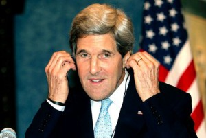 John Kerry with his chin
