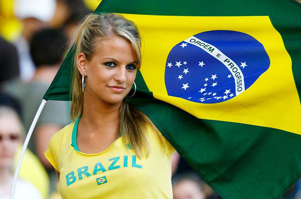 Rather hot brazilian fan world cup girl your